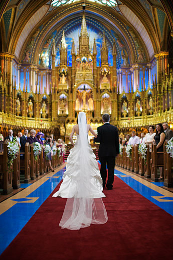 wedding at Notre-Dame Basilica of Montréal
