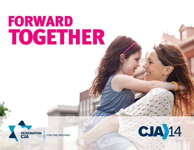editorial sryle campaign photography for CJA Montreal