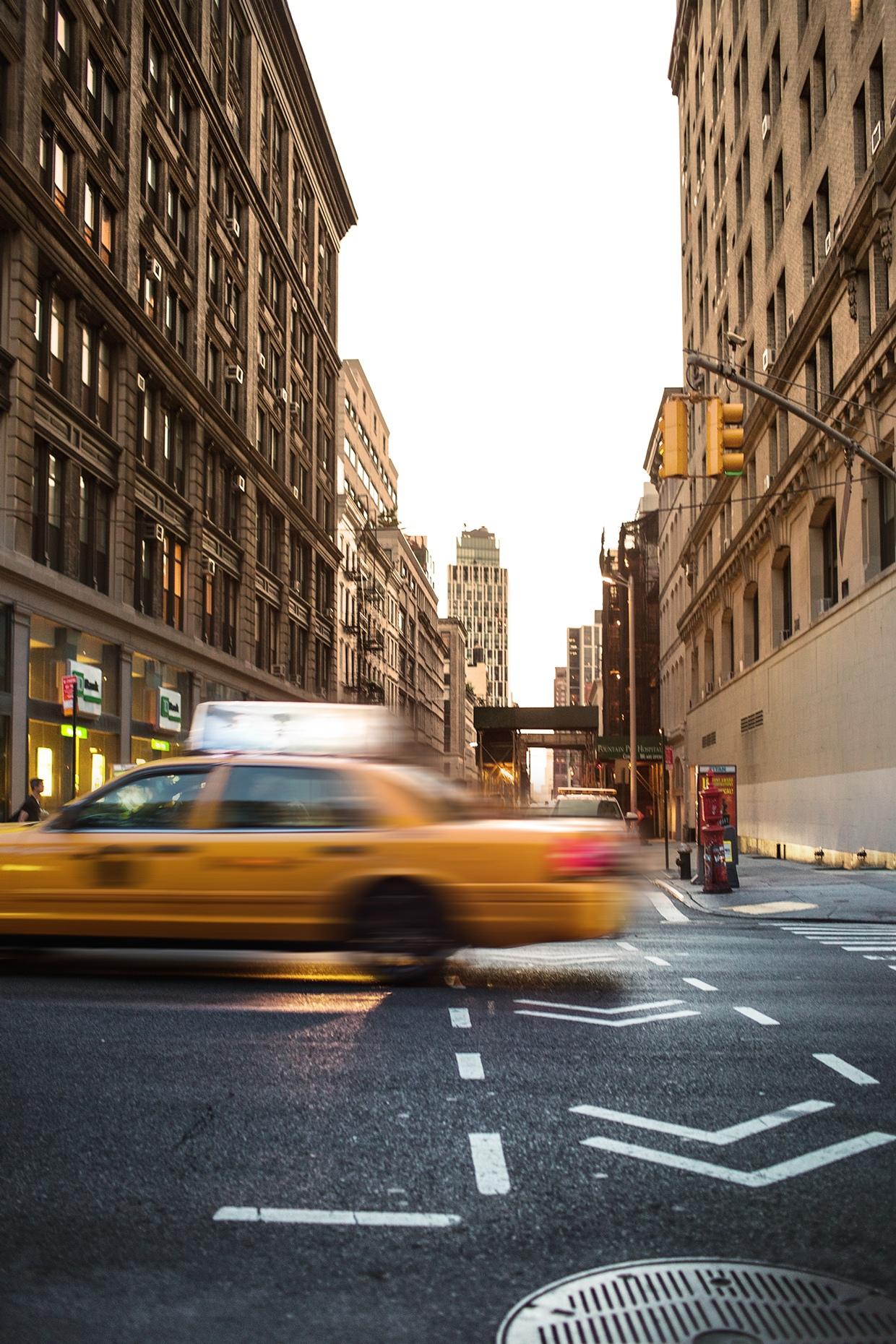 NYC cab street photography