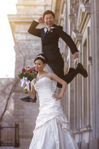 wedding fun photography in Montreal by Vadim Daniel
