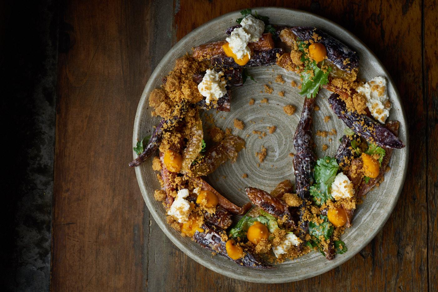 vegitables-plate-Mimi-la-Nuit, editorial food photography by Montreal food photographer Vadim Daniel