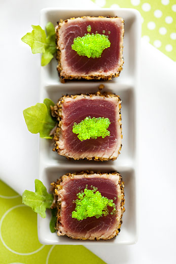 tuna steak photography