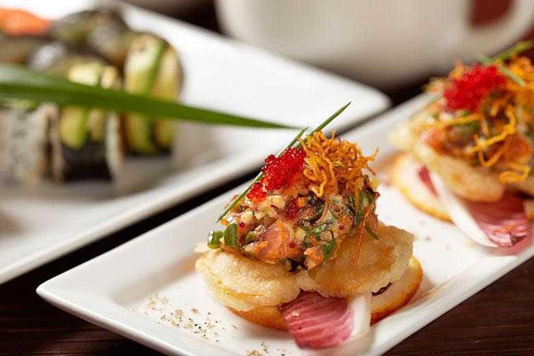 Japanese food preparation as Kaiji Sushi