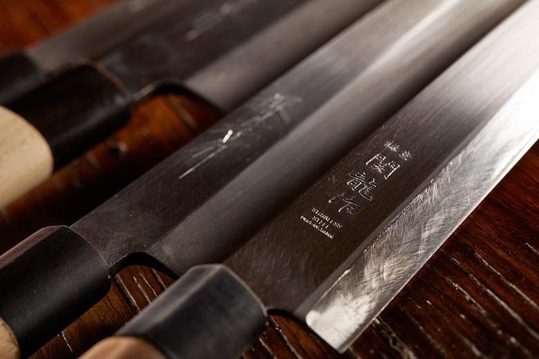 Japans knifes for sushi, sushi knife