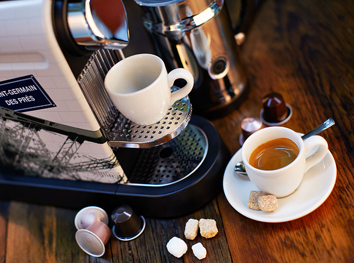new coffee machine presentation, food photography in Montreal