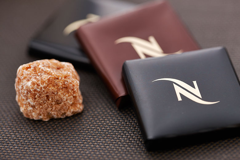 nespresso chocolate and sugar photography