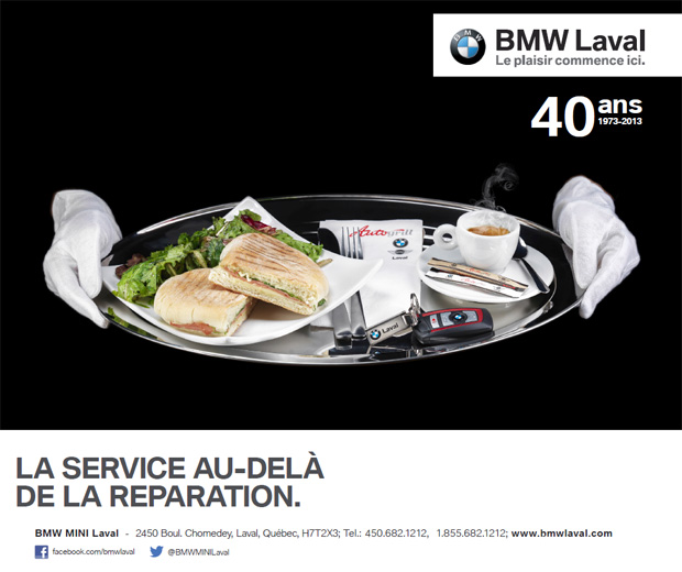 An advertising project for BMW, Laval dealership.<br>