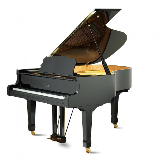 advertising product photography in Montreal of grand piano at Montreal PianoVertu store