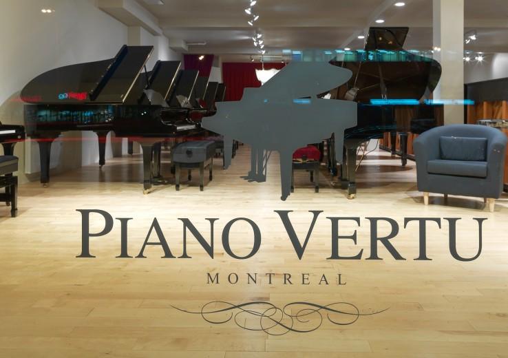 PianoVertu window at Montreal store