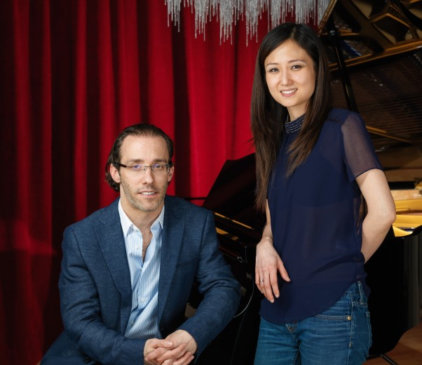 portrait of the owners of PianoVeru Montreal store. Portrait photography by Vadim Daniel