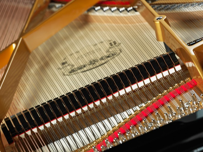product studio photography by Montreal Photographer Vadim Daniel, details of grand piano at Montreal store PianoVertu